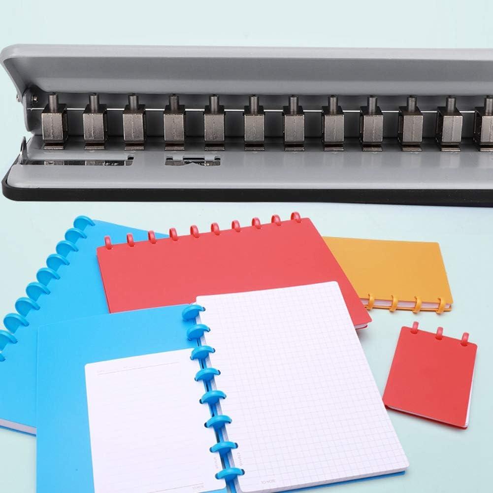 Suministros de Oficina Escolares Ajustables para Oficina en casa de Papel A4 // B5 // A5 // A7 NITRIP Perforadora de Setas Perforadora multifunci/ón Gray