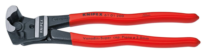 Knipex  61 01 200 SB Pince coupante frontale 200 mm avec poign/ée rev/êtement Plastique