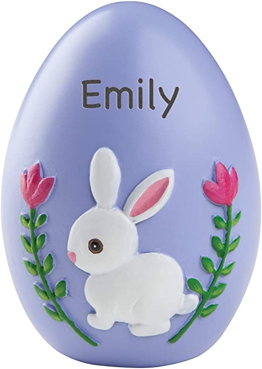 Bunny on Train Personalized Ceramic Easter Egg