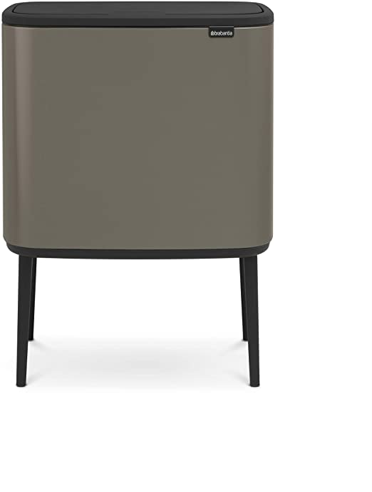 Acero Brabantia Bo Cubo de Basura con Pedal 2x30L Platinum
