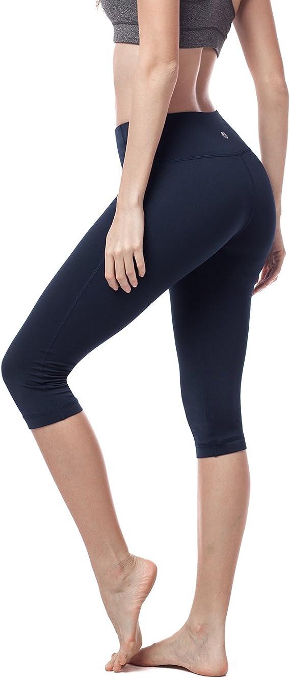 Lunghezza Polpaccio Donna Pantaloni Donna Leggings Sport Fitness Yoga Palestra vita alta Abiti