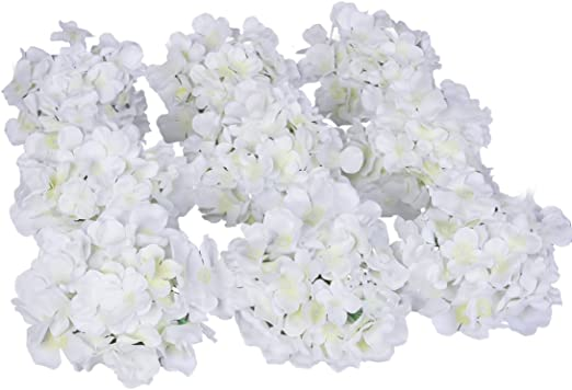 Amazon Com Luyue Silk Hydrangea Heads Artificial Decoration