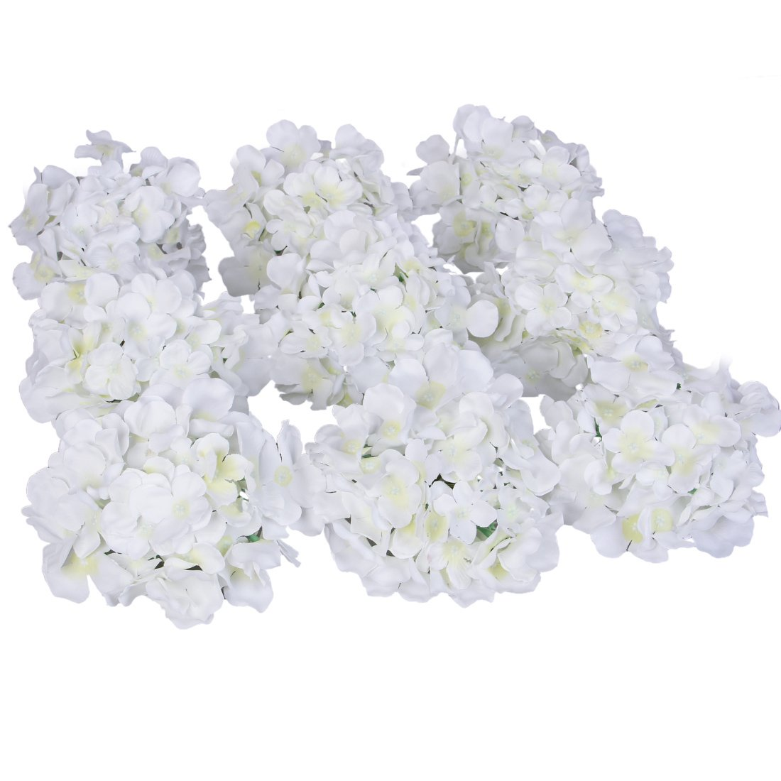 Amazon.com: Luyue Silk Hydrangea Heads Artificial Decoration Flowers ...