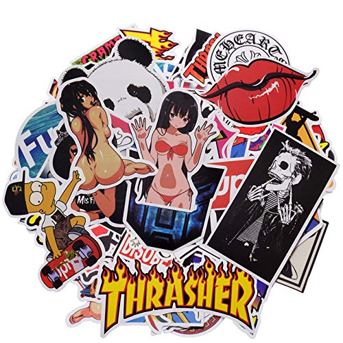 (100 PCS Not Repeat Graffiti Sticker Label Fashion Label Art Car Board Waterproof Random Stickers )