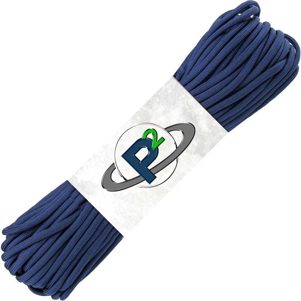 PARACORD PLANET Mil-Spec Commercial Grade 550lb Type III Nylon Paracord (Midnight Blue, 50 feet) by PARACORD PLANET