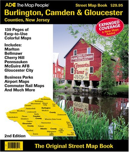 County New Jersey Map - Burlington, Camden & Gloucester Counties, New Jersey: Street Map Book
