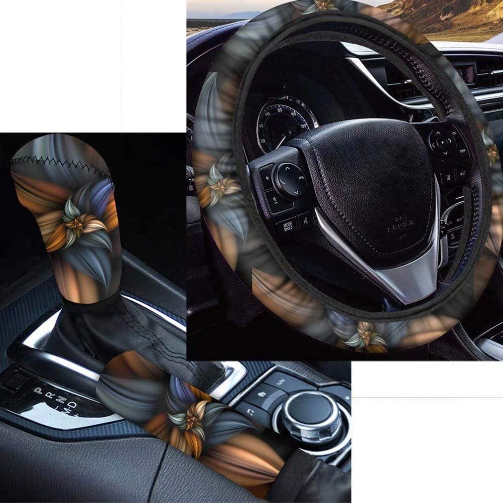 Starry Star Print Handbrake Grip Cover Streering Wheel Cover Fit Most Cars Sedan SUV Van Truck Car Interior Accessiores for Women Men FOR U DESIGNS 3 Pcs Set Auto Gear Shift Knob Cover