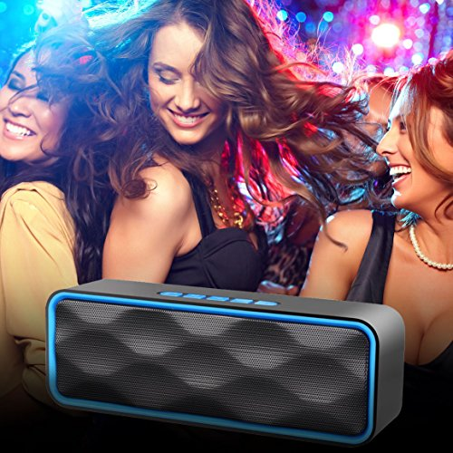 Wireless Speaker,Bluetooth Speaker, iGearPro Portable Outdoor Stereo Wireless Bluetooth Speaker with HD Audio and Enhance Bass, Dual Driver Speakerphone, Handsfree Calling, FM Radio and TF Card Slot