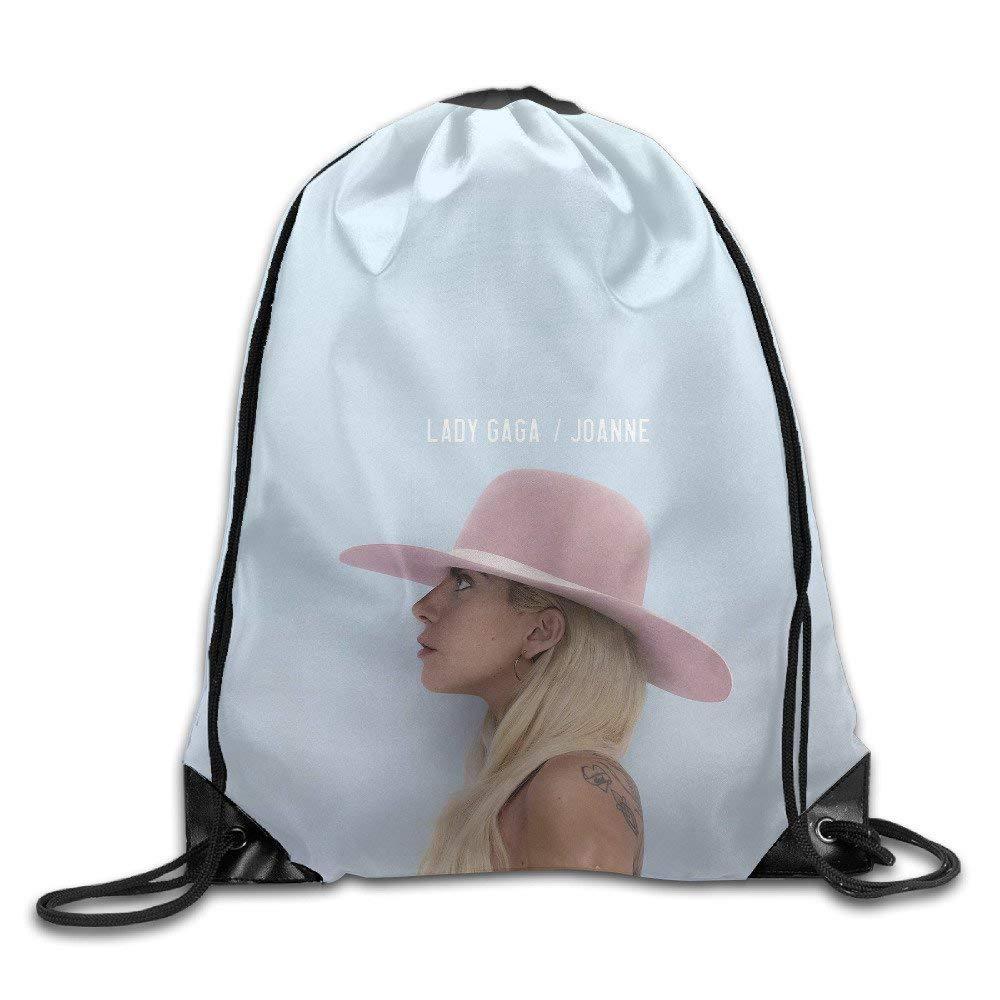 DHNKW Lady Gaga Joanne 2016 Drawstring Backpack Sack Bag