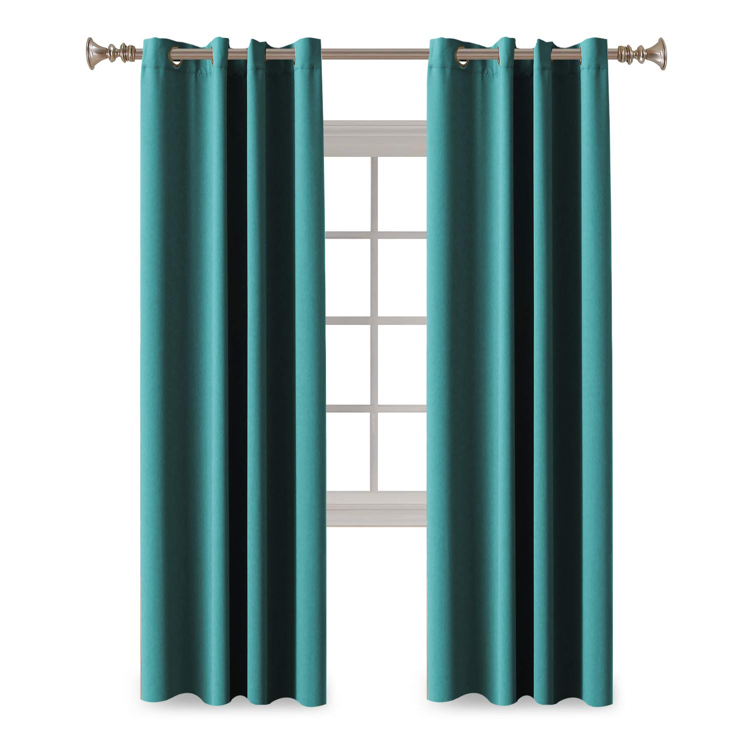 Amazon.com: Turquoize Solid Blackout Drapes, Teal/Blue Turquoise ...