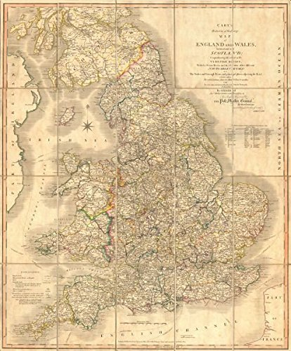 Cary S Reduction Of His Large Map Of England Wales Turnpikes