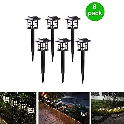 Outdoor Figurine Lights 6 Pack Solar Pathway Lights Waterproof Led Solar Garden Lights Landscape Lights for Garden Pathway