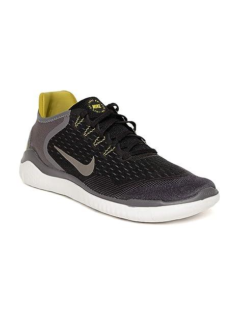 58957c483e2b4 Nike Men s Free RN 2018 Black Peat Moss Thunder Running Shoes (942836-