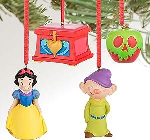 Disney Snow White and Seven Dwarfs Mini Ornaments Set