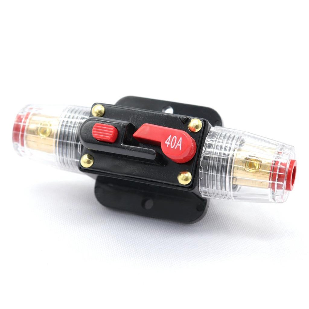 80A MagiDeal 12V Car Audio AGU Fuse Holder 4-8 AWG Inline Circuit Breaker Protection