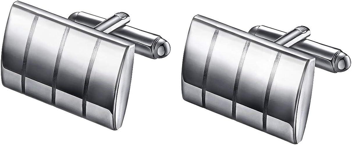 EVBEA emelos Chombre Acero Inoxidable Pisacorbatas Metal Plata Negro Pasador Corbata Set para Hombres Dia del