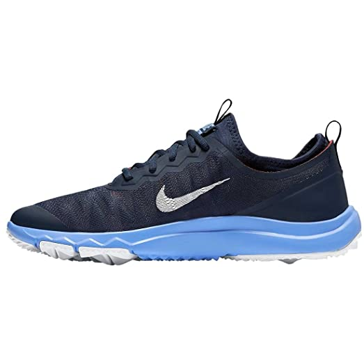 Nike Women's Fi Bermuda Spikeless Golf Shoes, 6.5 Medium, Midnight Navy/Chalk  Blue
