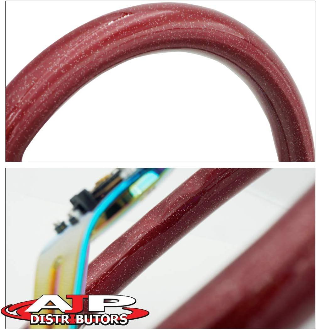 AJP Distributors Universal Jdm Euro 6 Bolt Hole 345mm White Wood Chrome Center Steering Wheel Blank Horn