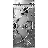 posterdepot ktt0290 deurbehang deurposter kluisdeur van staal-openingsmechanisme-afmetingen 93 x 205 cm