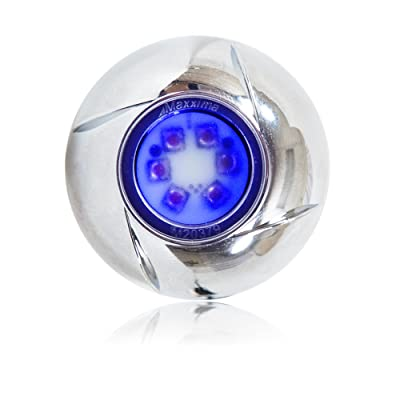 """Maxxima M20379BCL Blue 1.8"""" Round 6 LED Strobe Light with Clear Lens: Automotive"""