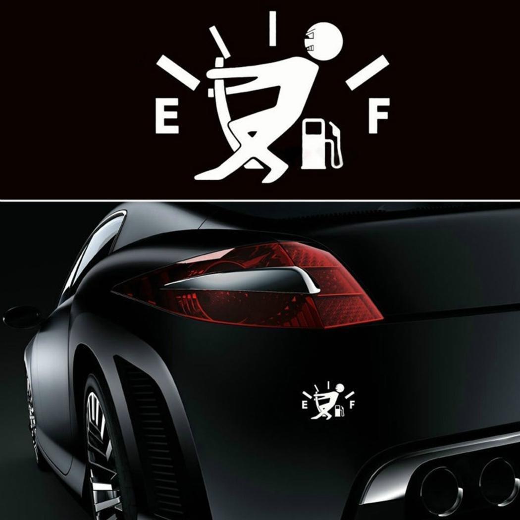 Wekold Etichette Adesive Impermeabili per Auto Moto Bianco//Nero Car Sticker Decorativo Adesivo per Serbatoio Carburante Carro Armato cap