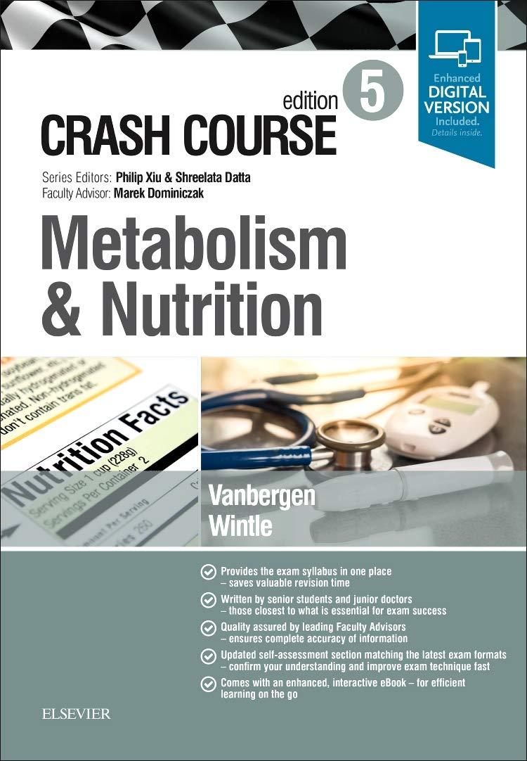 amazon crash course metabolism and nutrition 5e olivia