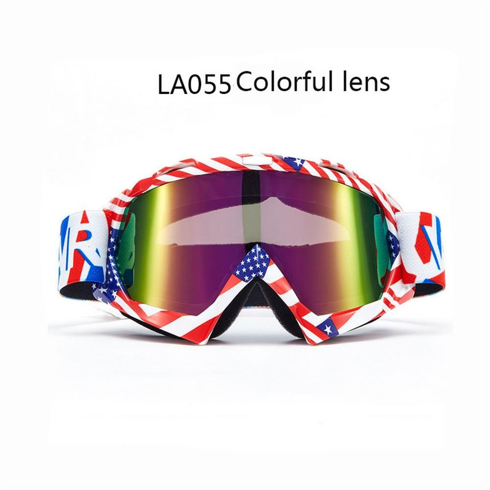 Cycling Goggle Motocross Dirt Bike Helmet Goggles Motorcycle ATV Riding UV Protection Ski Goggles Windproof Adjustable for Men Women Youth