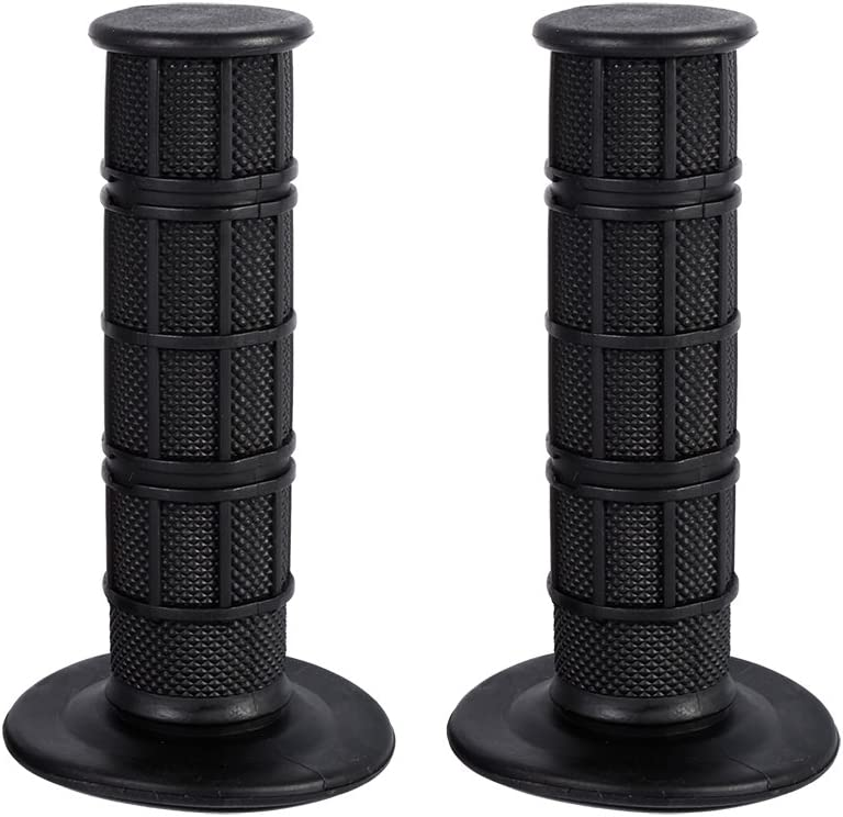 Motorcycle 7//8 Hand Grips Gray Keenso Motorbike 22mm Silicone Soft Handlebar Grips for Pit Dirt Bike Black