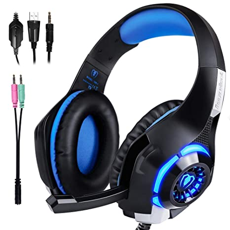 ARINO Cuffie Gamer Headset Gioco Video Cuffia con LED per Cuffia Gaming  Cablata Filo USB a558271cea8b