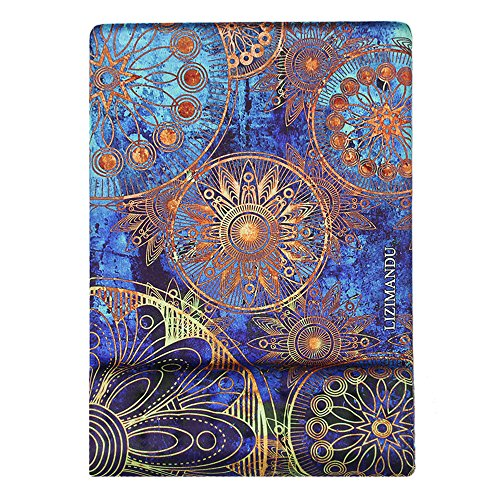 Cheliz Memory Foam Non Slip Mouse Pad Wrist Rest - Durable & Comfortable & Lightweight For Easy Typing & Pain Relief-Ergonomic Support(Blue Flower)