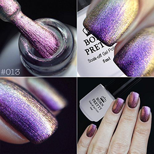 BORN PRETTY 5ml Chameleon UV Gel Soak Off Multi Chrome Gel P