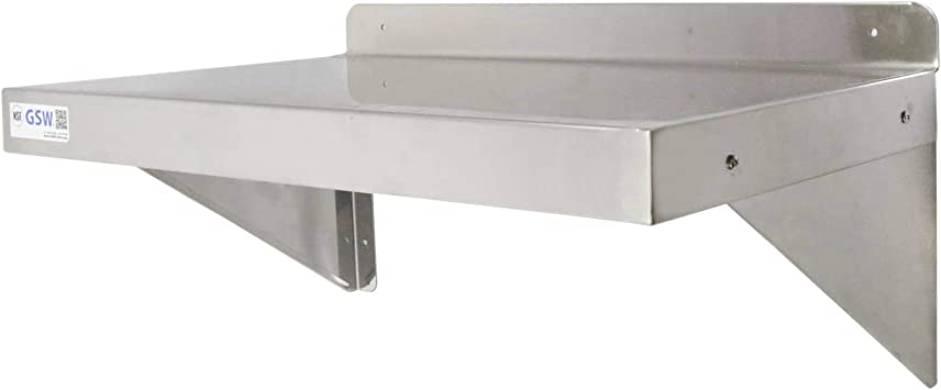 Commercial Stainless Steel Wall Mount Shelf 12 x 60 NSF