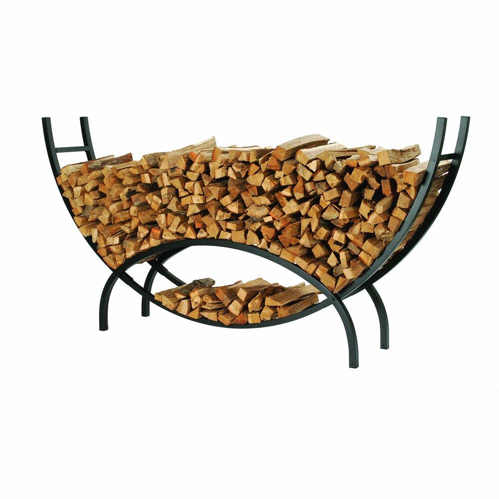 amazon com shelter scrxl firewood storage log rack crescent x
