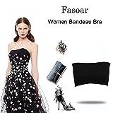 Fasoar Women's Bandeau Bra, Basic Layering Seamless