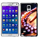 GRECELL CITY GIFT PHONE CASE /// Cellphone Protective Case Hard PC Slim Shell Cover Case for Samsung Galaxy Note 4 /// Octopus Tentacle