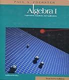 Algebra I, Teacher's Edition