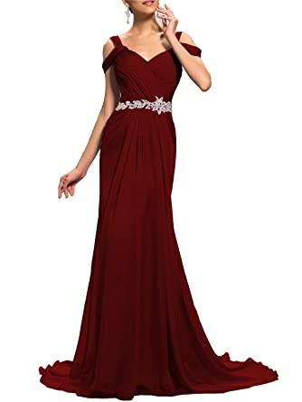 980aa14120b Lily Wedding Womens Beaded Off Shoulder Prom Bridesmaid Dresses 2019 Long  Formal Evening Ball Gowns TB67