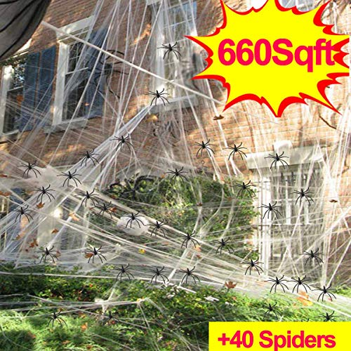 Giant Spider Web,Outdoor Halloween Decorations,Super Stretch Spider Webs