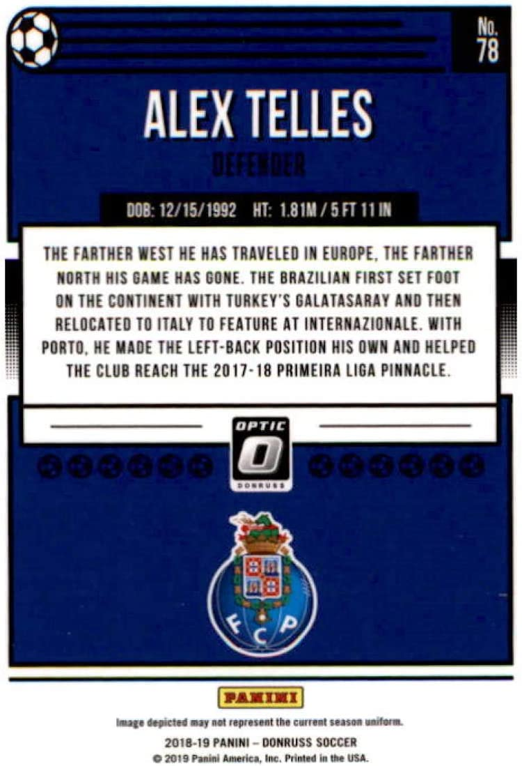 2018-19 Donruss Optic #78 Alex Telles FC Porto Soccer Card