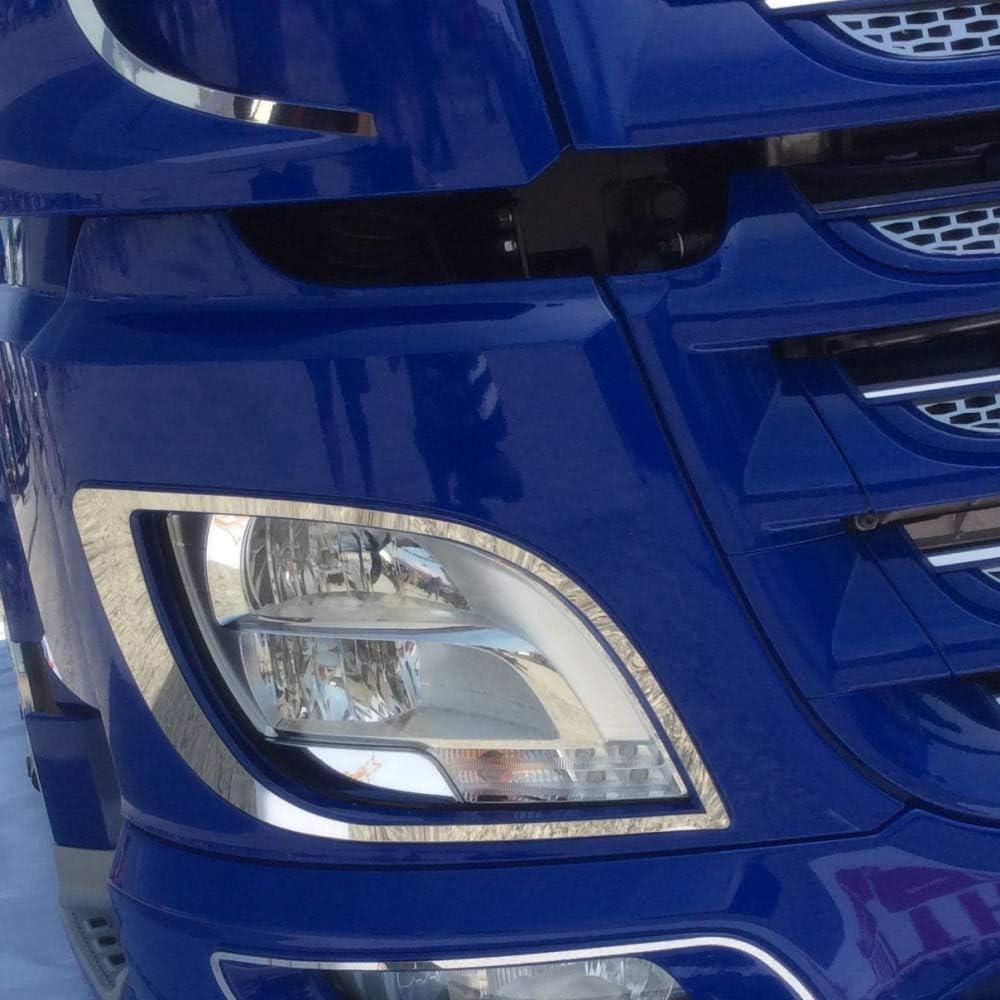 Truckdanet Accessoires en acier inoxydable pour camion DAF XF 106 Euro 6 Cadres de phares