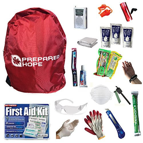 (Prepared Hope ESSENTIALS Emergency Survival Kit for Camping, Hiking, and Bug-Outs with Backpack)