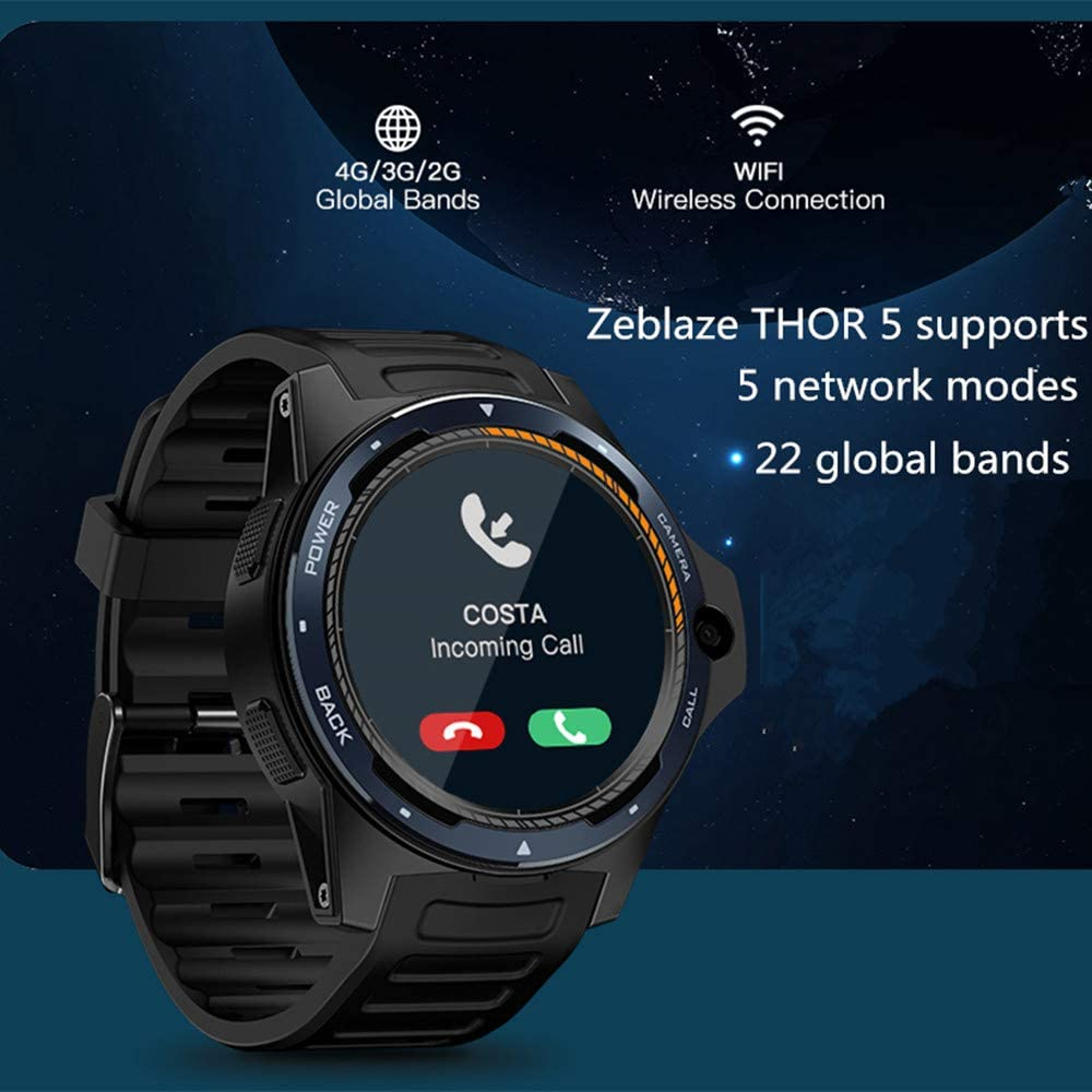 Amazon.com : Zeblaze Thor 5 Smartwatch, Dual Systems 4G ...