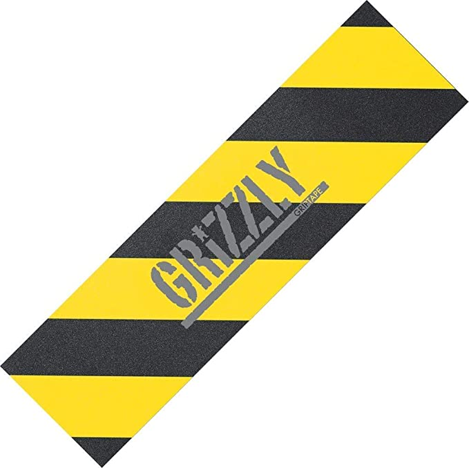 Grizzly Wrods Logo with red Base or Yellow line Base Colorful Grizzly Words Logo Skateboard acceossy Grip Tape