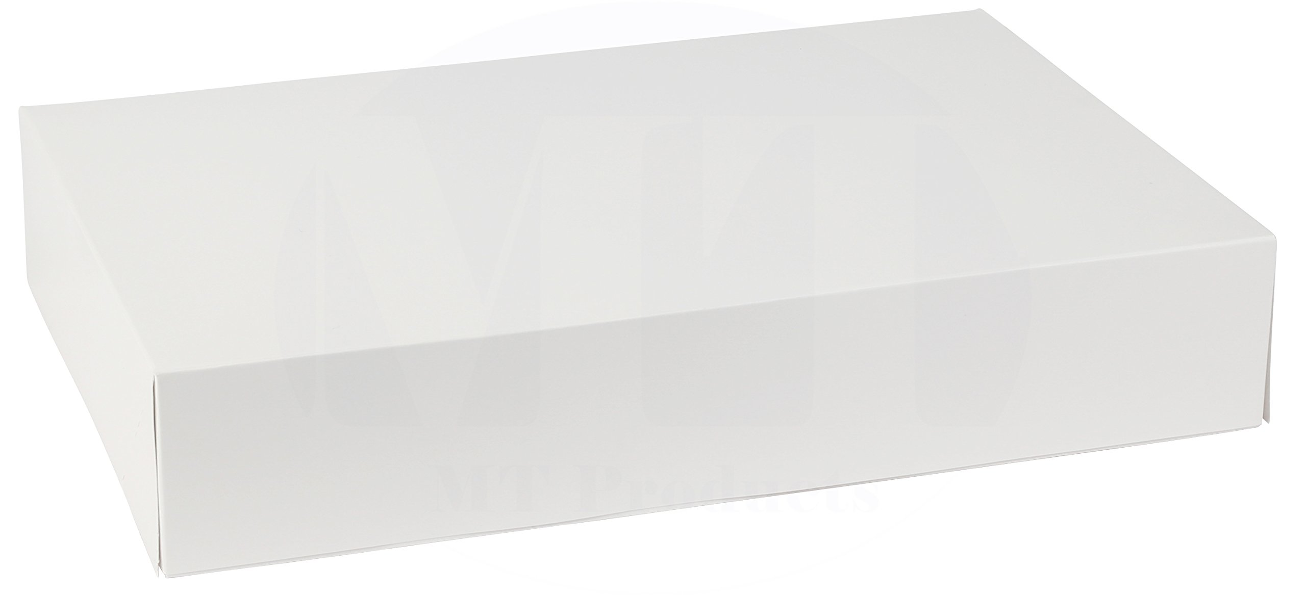 12'' Length x 8'' Width x 2.25'' Height White Kraft Paperboard Auto-Popup 1-Piece Donut Bakery Box by MT Products (Pack of 15)