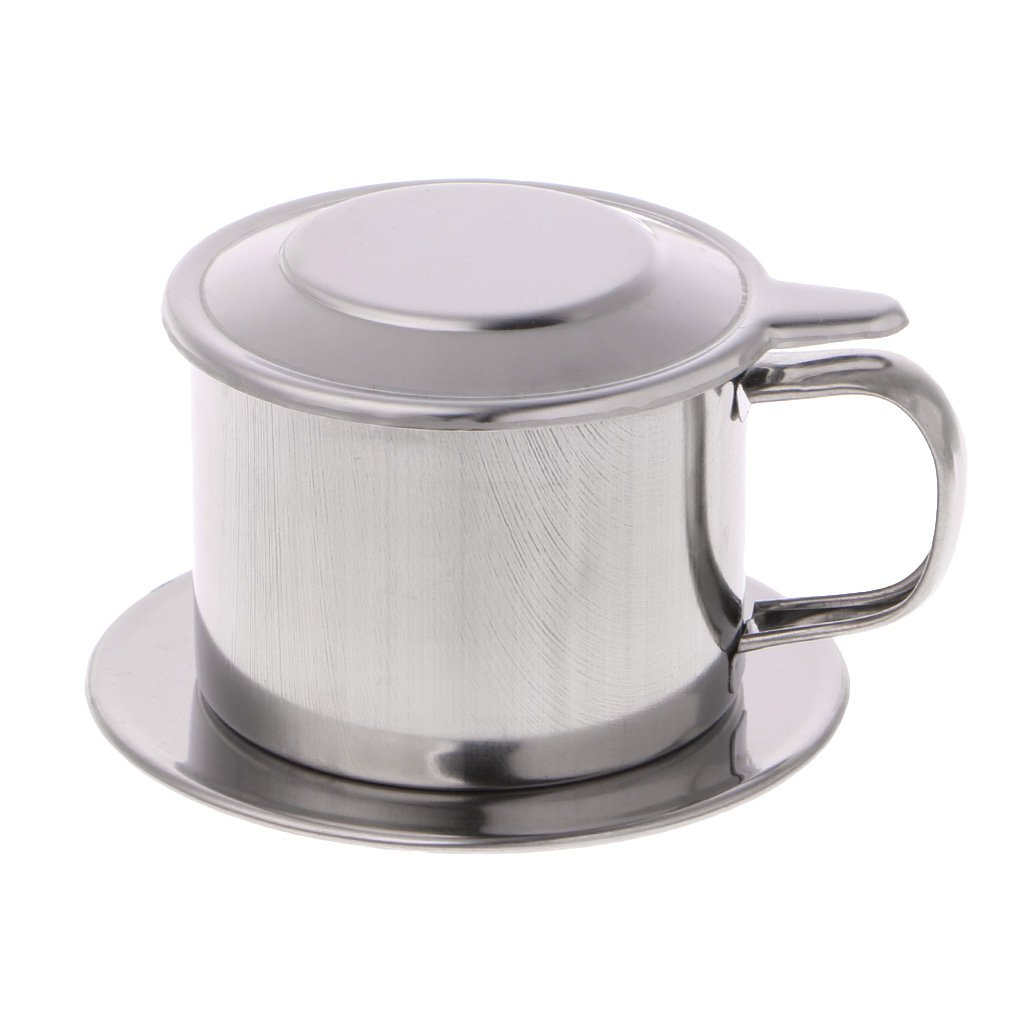 Milue Vietnamese Coffee Filter Stainless Steel Maker Pot Infuse Cup Serving Delicious (S)