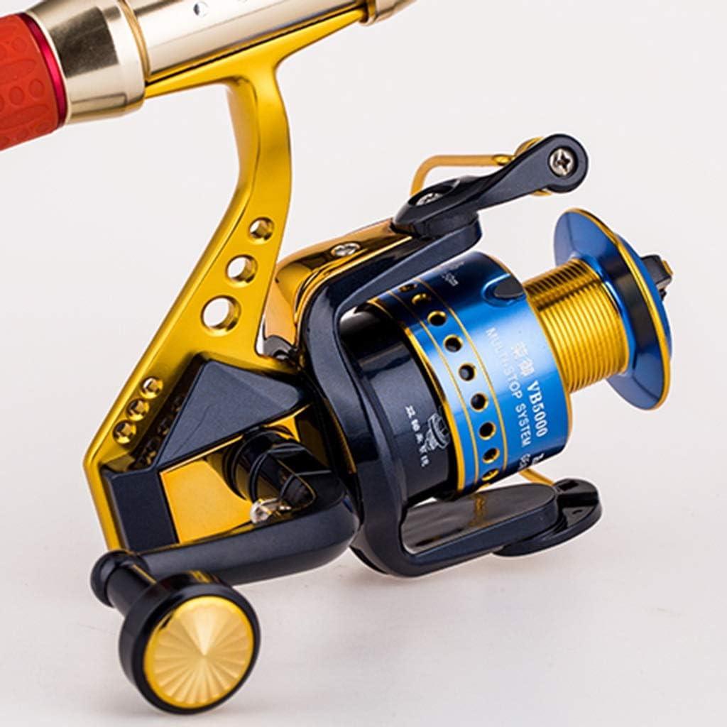 Spinning-Rollen Fliegenfischerrolle Metallhalterung Zum Angeln Spinnrad Angelrolle Jog Wheel Rotation Button Faltbares Design Leicht Zu Transportieren Yellow