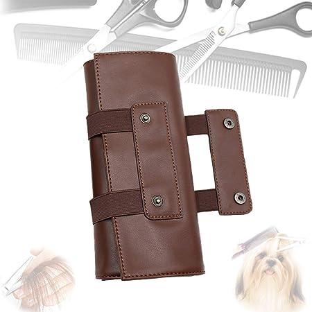 ZYJFP Bolsa De Tijeras De Cabello De PeluqueríA De Cuero Estuche Plegable,para Mascotas Peluqueros Tijeras Peluqueria Estuche Herramientas,Brown: Amazon.es: Hogar