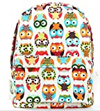Yonger Printing Owl Canvas Women Backpacks Travel Bags Girl Shoulder Schoolbag