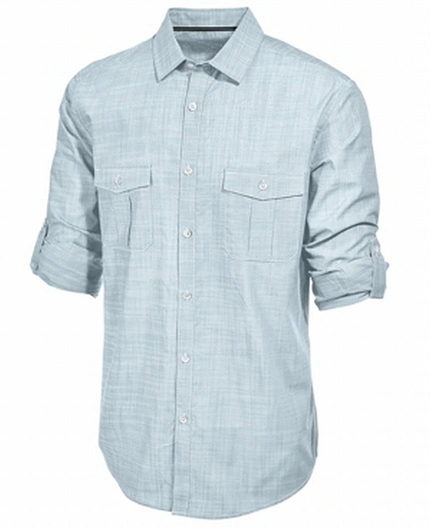 Alfani Mens Warren Pattern Formal Button-Down Shirt