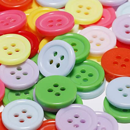 15mm Assorted Plastic Four Hole Buttons